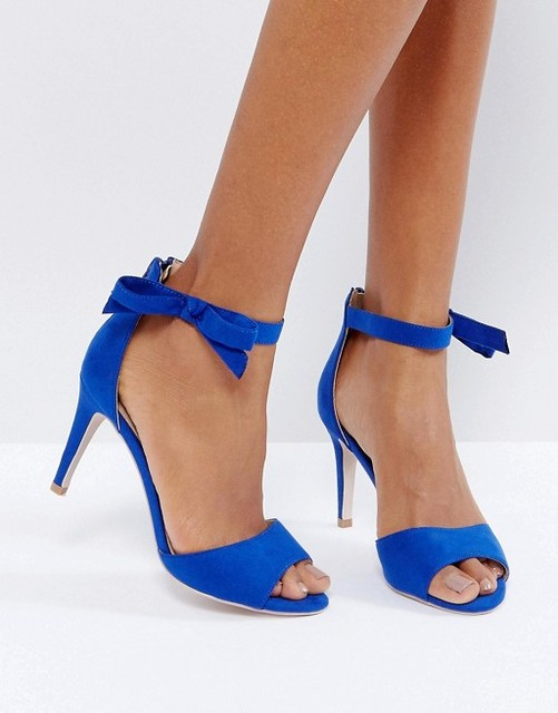 Aidocrystal Women Sandals New Sexy High Heel Royal Blue Suede ...