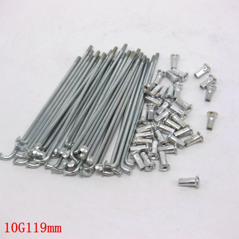 Electric Bicycle 10G Diameter3.0mm Length 97-234mm Spokes + Nipples 37pcs/lot