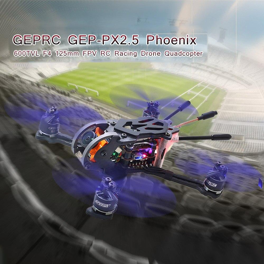 Oyuncaklar ve Hobi Ürünleri'ten RC Helikopterler'de GEP PX2.5 Phoenix 600TVL Kamera 125mm FPV Yarış Drone rc dört pervaneli helikopter Drone Parçaları w/Frsky Alıcı BNF'da  Grup 2