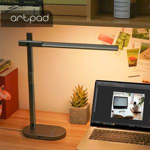 Image 2 - USB יציאת תשלום מודרני LED מנורת שולחן עם QI אלחוטי תשלום טלפון 5 צבע טמפרטורת 6 רמת בהירות משרד עבודה אור