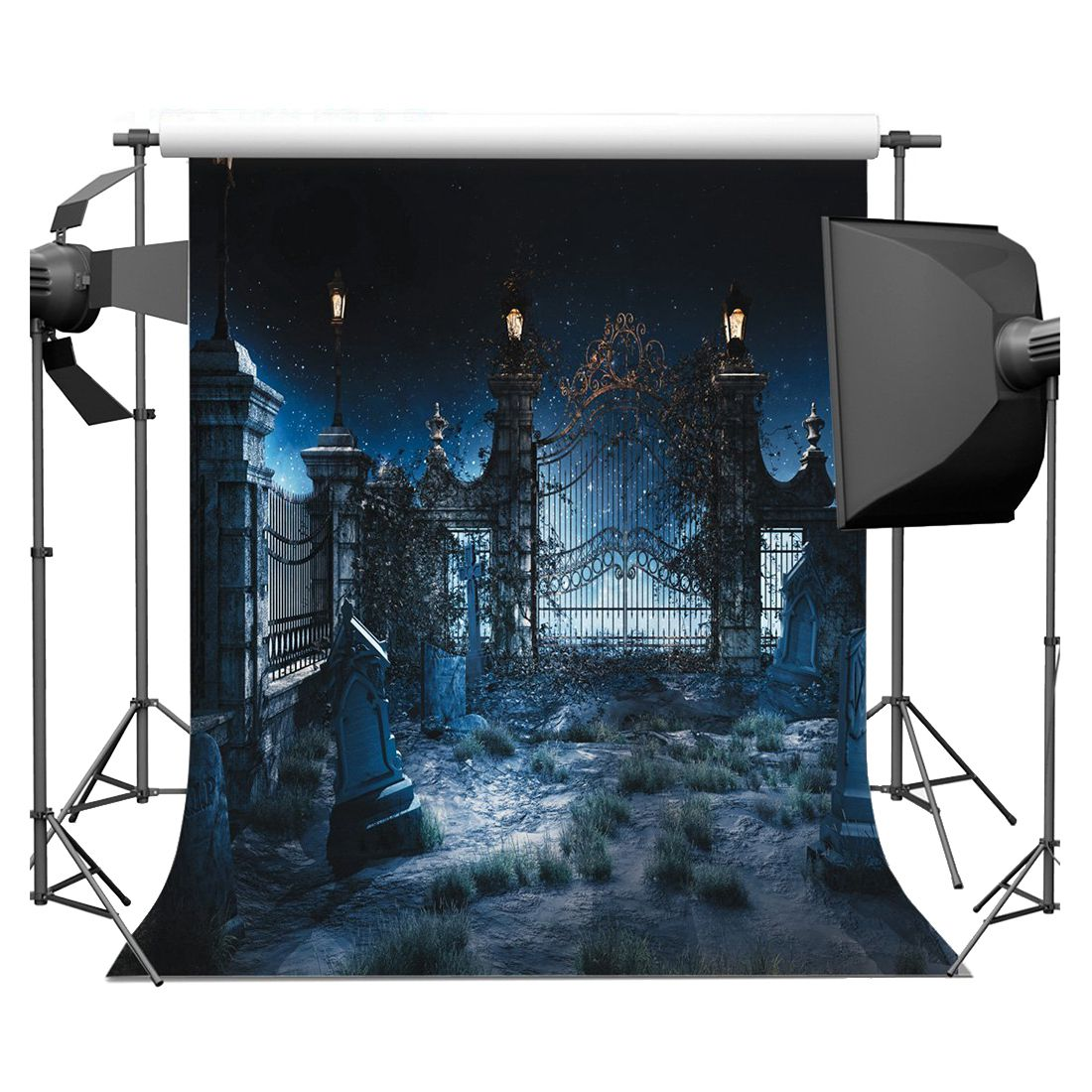 Halloween Vinyl Photography Backdrop Photo Background Studio Prop 5*7ft, Abandoned Garden abandoned abandoned thrash you