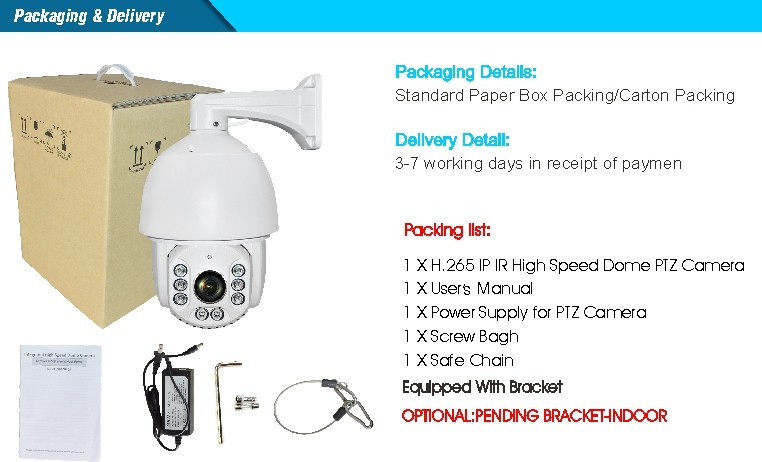 H.265 PTZ CAMERA-package