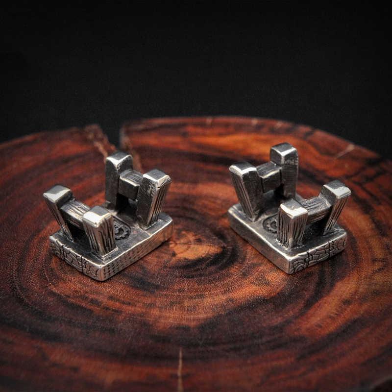 EDC тибетский серебряный латунный нож бисер кулон уличный Паракорд DIY украшения тибетский серебряный латунный Кемпинг снаряжение EDC инструменты