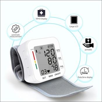 RZ Digital Wrist Blood Pressure Monitor Pulse Rate Heart Beat Rate Meter Device Medical Equipment
