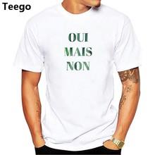 Smiley World Oui Mais no cita francesa hombres camiseta Premium camiseta  Harajuku camisa ropa de marca bff32c8f4ec56