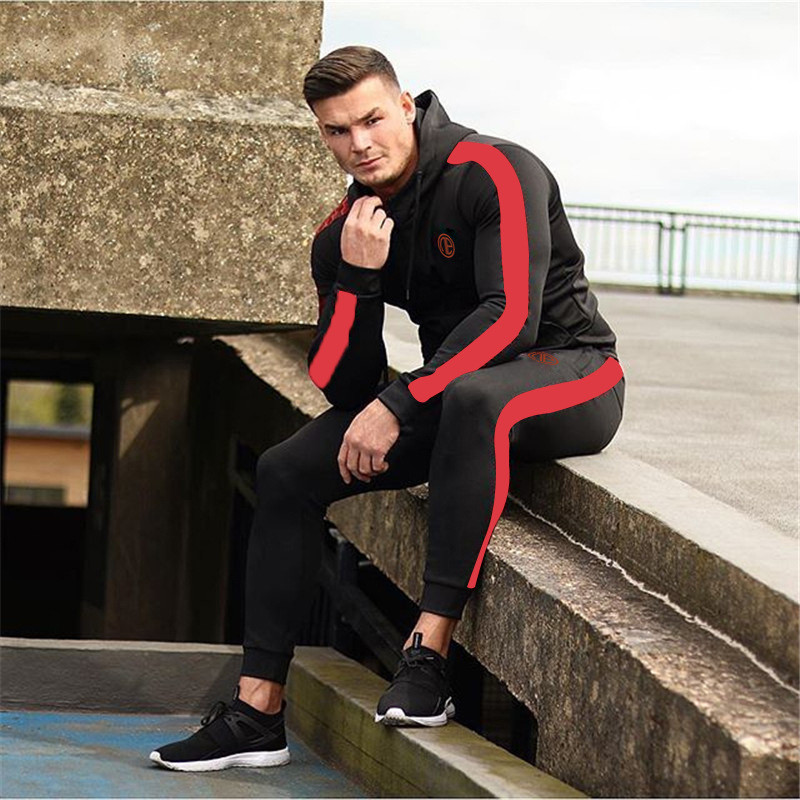 Running Tracksuit Sport Gym Men Set Sports Top (13)