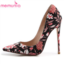 цена на MEMUNIA 2019 new arrive pumps women shoes pointed toe top quality sexy super high heels shoes elegant party wedding shoes woman