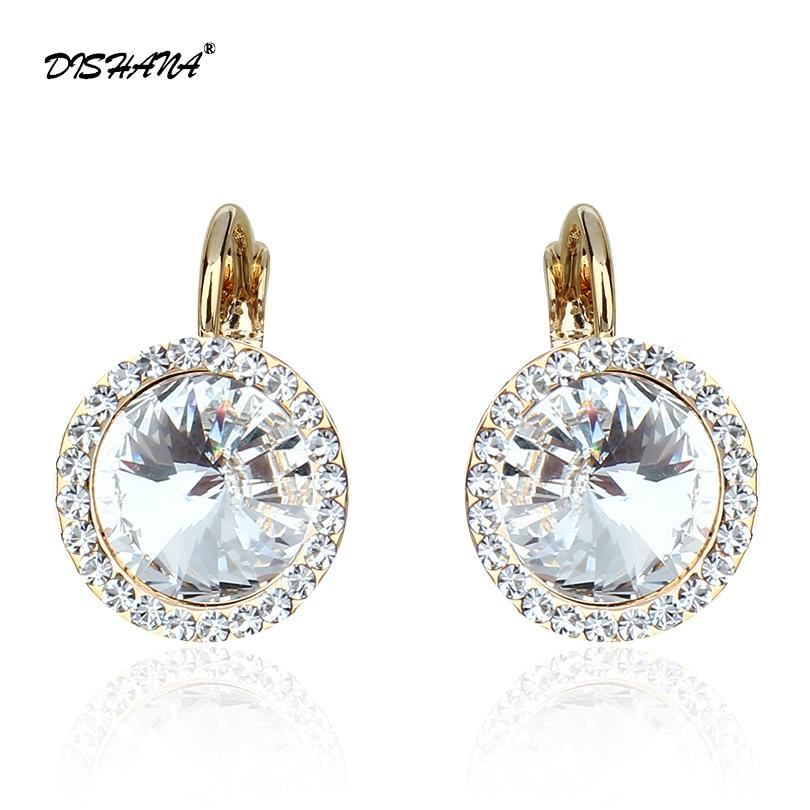 Нове кристалне наушнице Модни накит Елегантне аустријске рхинестонес Женске модне минђуше Бест Фриендс (Е0073)