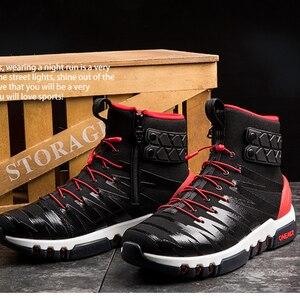 Image 5 - ONEMIX Boots for Men Running Shoes High Top Trekking Sport Shoes Crosser Fitness Outdoor Jogging Sneakers Comfortable Walking