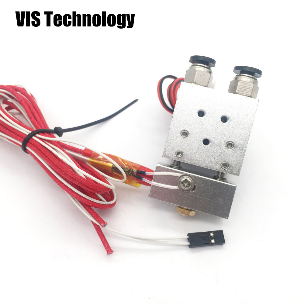 3D Printing & Scanning Dual Head Extruder V6 Hot End Extruder With Wire For 3D Printer