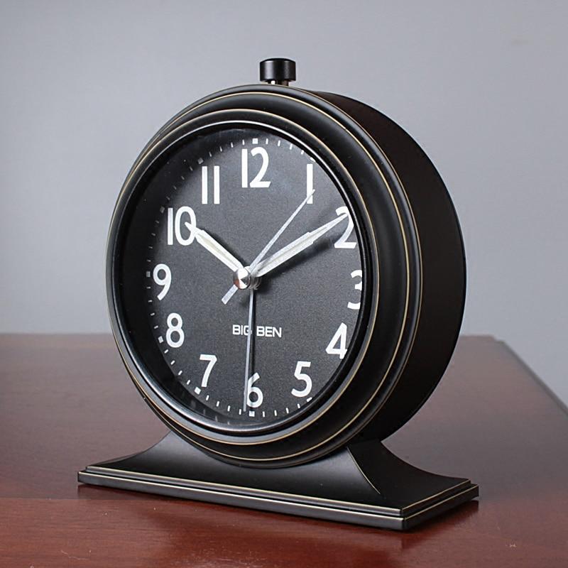 2017 New Continental Retro Alarm Clock Vintage Mute ...