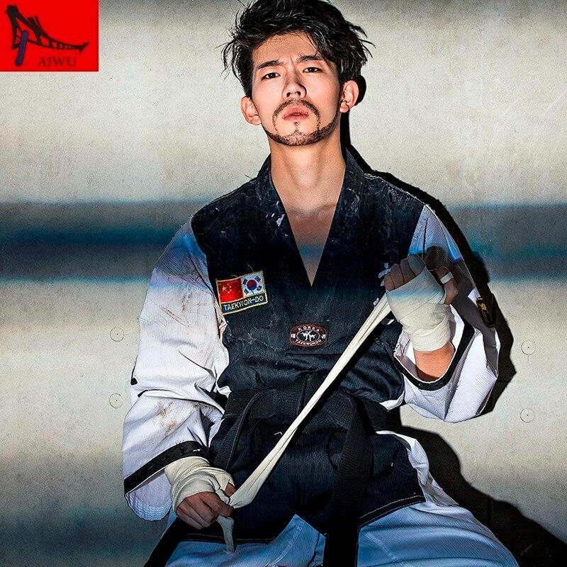 The High-end Genuine Children's Taekwondo Wear Long Sleeved Adult Male And Female Taekwondo Costume