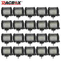 RACBOX 4 inch 72w Quad Row Spot lights Led Work Light Bar 12V 24V Offroad LED Bar Car 4X4 4WD Truck SUV ATV UTV Trailer Pickup
