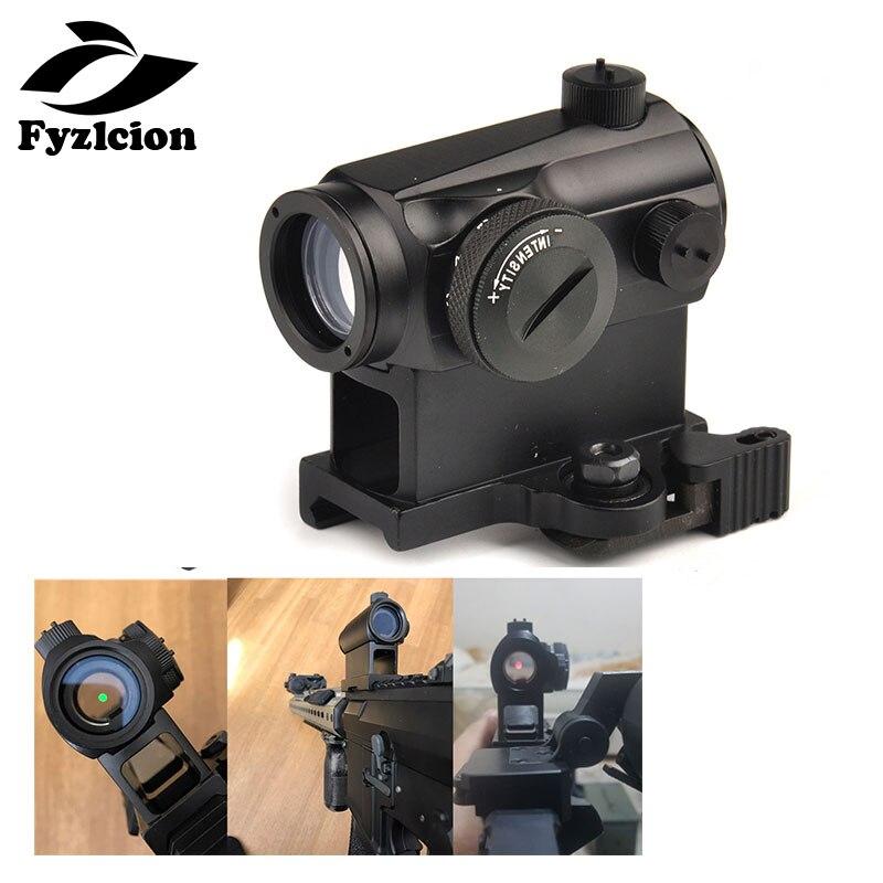 Tactique Mini 1X24 Rifescope Sniper de Visée Lumineux Rouge Green Dot Sight Avec Quick Release Red Dot Portée Montage pour La Chasse