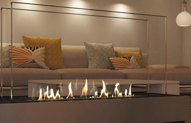 36 Inch  Real Fire Wifi Intelligent Smart Bio Ethanol Electric Fireplace Heater