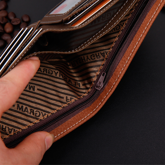Portefeuille Homme Avec Porte Monnaie Marron 1
