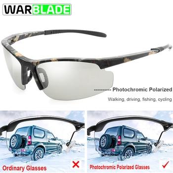 4d3840259e ¡2018 caliente! Conducción sol polarizadas fotocromáticas hombres camaleón  las Gafas Drivers Gafas de sol hombre