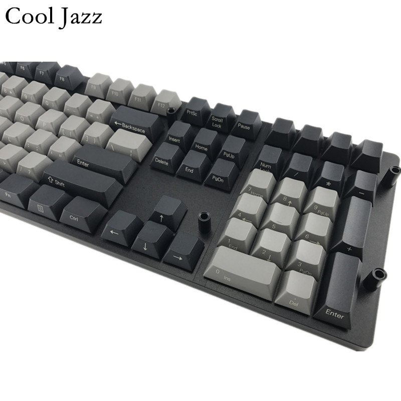 Cool Jazz Black Gray mixed Dolch Thick PBT 104 87 61 Keycap Mac Keys cherry Profile Key caps For MX switch Mechanical Keyboard in Keyboards from Computer Office