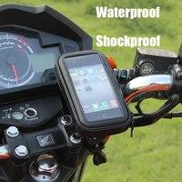 دراجة نارية حامل هاتف للدراجات النارية حامل حقيبة آيفون X 8 Plus SE S9 الهاتف المحمول لتحديد المواقع الدراجة حامل مقاوم للماء غطاء حقيبة