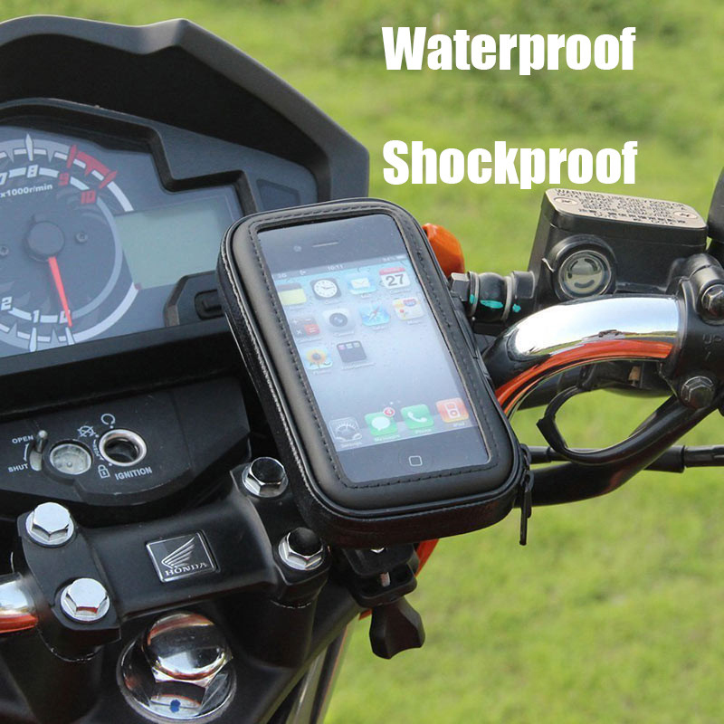 Bicycle Motorcycle Phone Holder For Motor Stand Bag For Iphone X 8 Plus SE S9 Mobile Phone GPS Bike Holder Waterproof Bag Cover