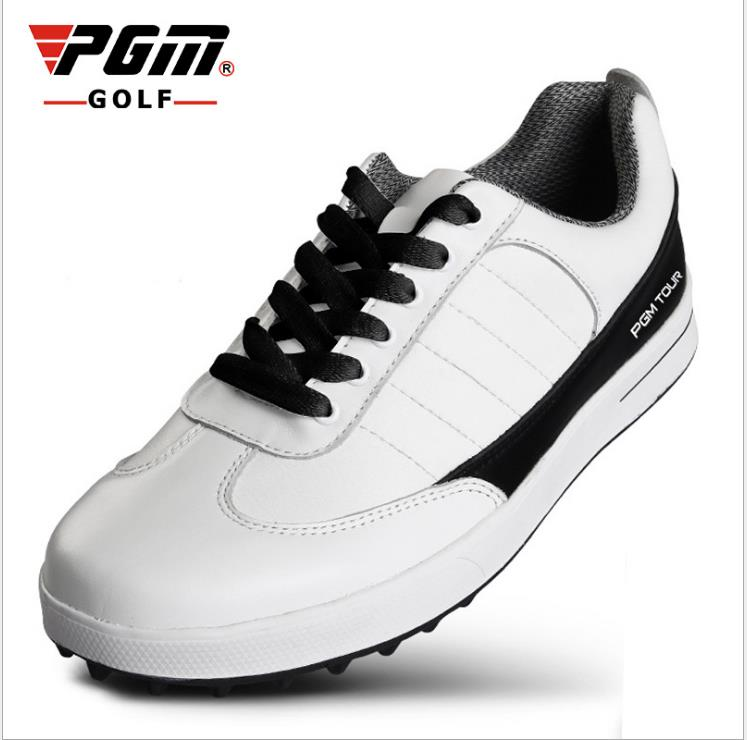PGM new men's genuine leather golf shoes without spikes ultra soft super breathable waterproof golf shoes зоогурман консервы мясное ассорти говядина для кошек 250 г