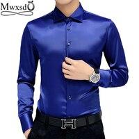 Plus Size 5XL 2016 New Men S Luxury Shirts Wedding Party Dress Long Sleeve Shirt Silk