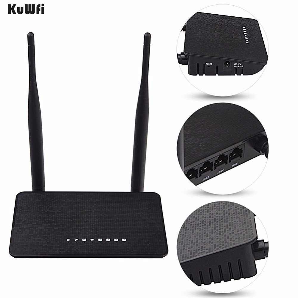 KuWFi 300Mbps WIFI Router Wireless MT7628KN Chipset Wifi Repeater 2.4Ghz With 2Pcs Antenna English Version