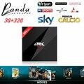Caixa de iptv iptv Francês itália Nova H96 Pro + 3 GB/32 GB S912 Android 6.0 CAIXA DE TV HD Inteligente europa servidor 1000 + Canais de tv + 1 Ano Canal +