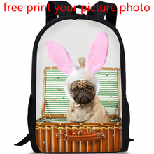 picture photo free design custom 3D renderings travel bag large capacity backpacks puppies pet dogs pattern customized backpack