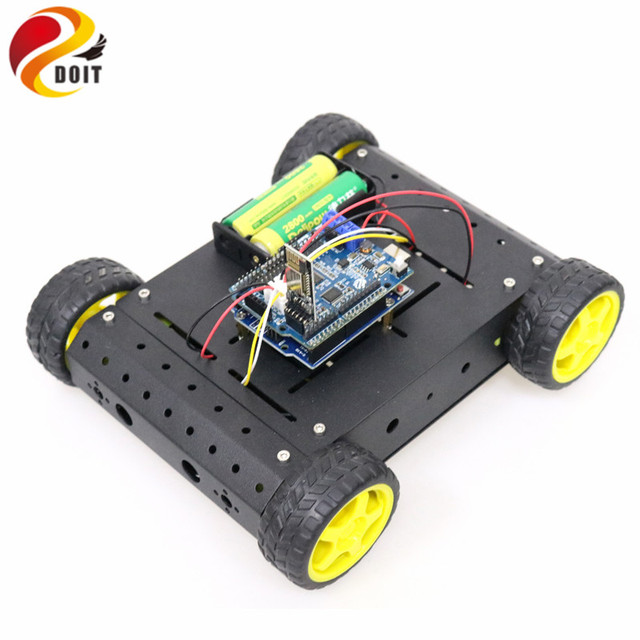 WiFi/Bluetooth/PS2 RC 4wd Smart Car Chassis Kit with UNO R3 Board+Motor Driver Board for Arduino DIY Remote Control Robot