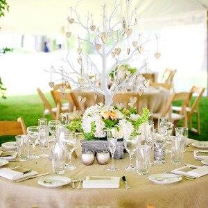 Image 5 - Центральный орнамент OurWarm для свадьбы, Дерево желаний, деревянное сердце, подвеска для гостей, подпись вечерние для вечеринки, «сделай сам», Деревенское свадебное украшение