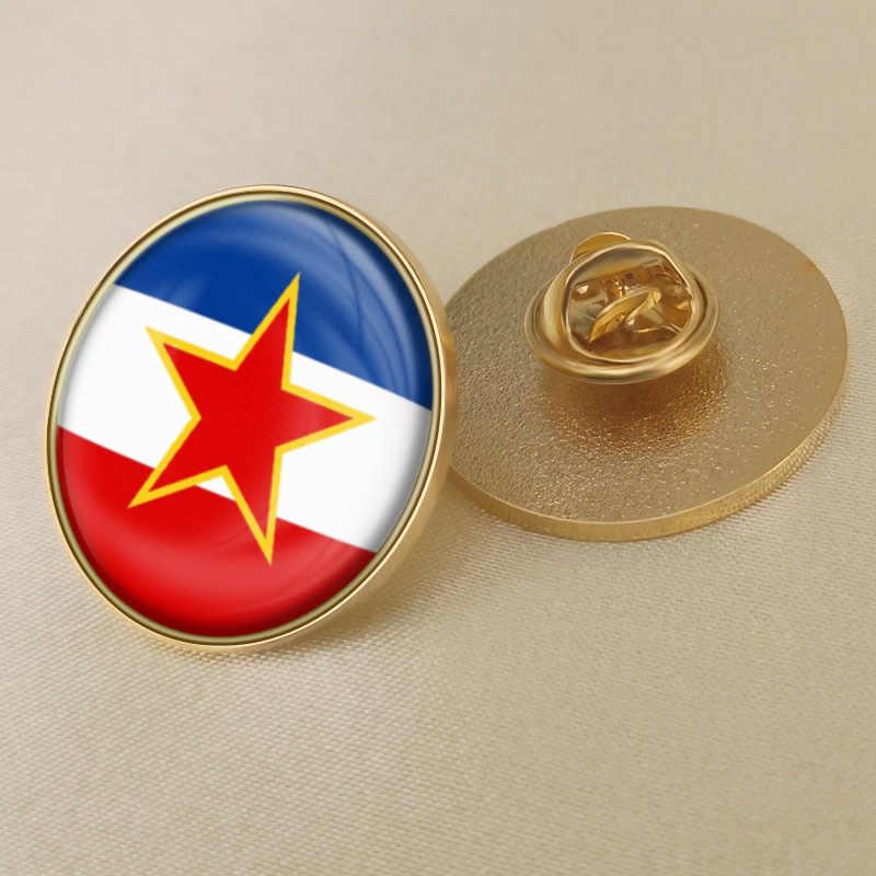 Wappen von Jugoslawien Flagge Nationalen Emblem Brosche/Abzeichen/Anstecknadeln