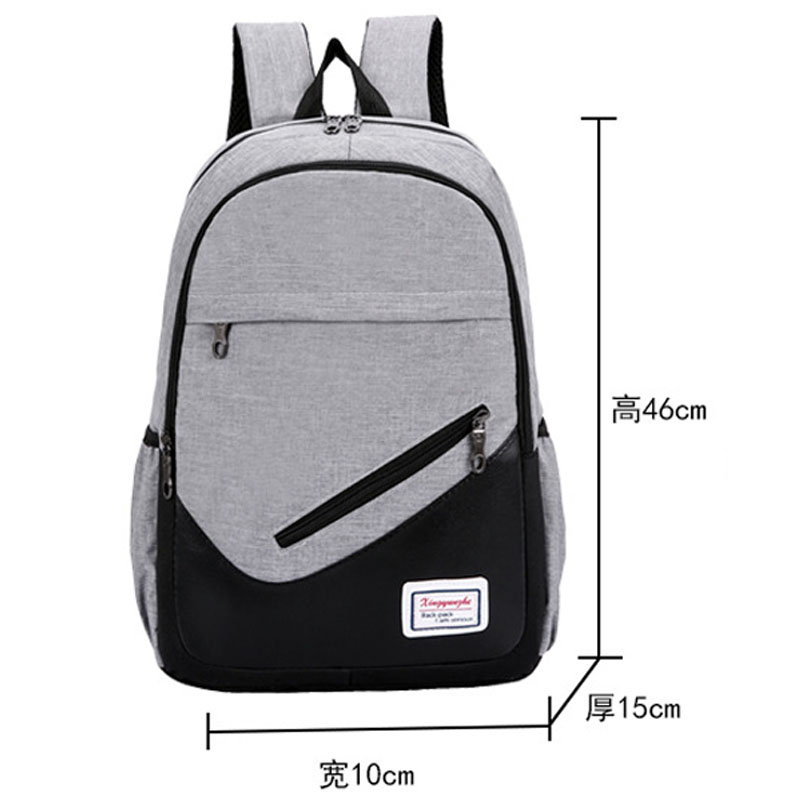 Image 2 - 3Pcs/set Women Nylon Laptop School Backpacks School Bags For Teenager Girls College Preppy Style Travel Backpacks Men Book Bags-in Backpacks from Luggage & Bags