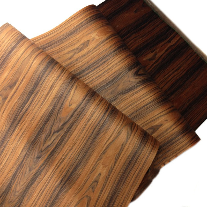 Technical Veneer Sliced Wood Engineering Veneer E.V. Santos Rosewood 60x250cm Tissue Backing 0.2mm Thick C/C