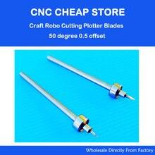 2 unids HQ Wishblade Silueta Craft Robo CraftRobo Graphtec Vinilo de Corte Plotter Cuchillas 50 Grados