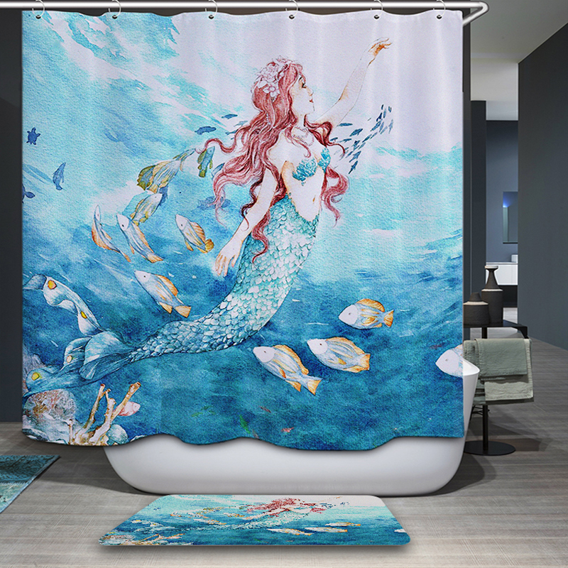 mermaid bathroom decor promotion-shop for promotional mermaid
