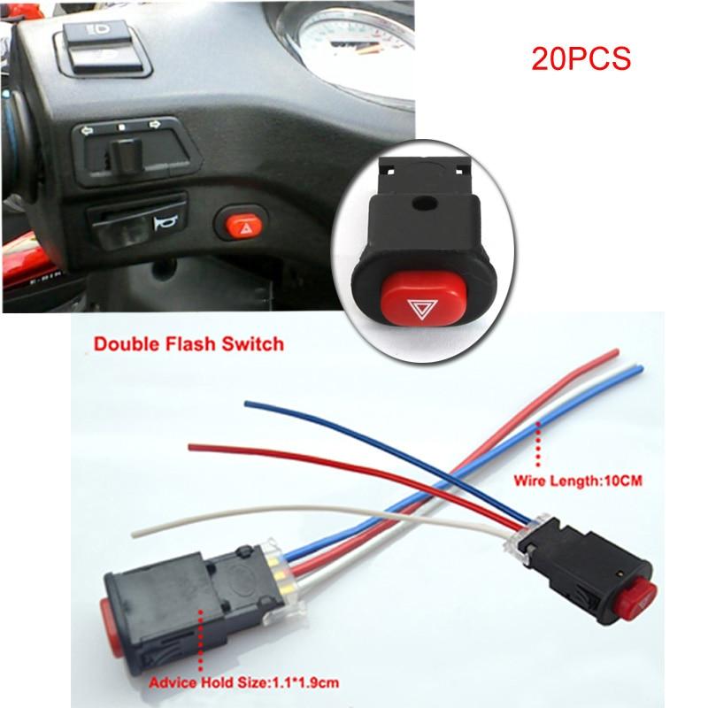 Youwinme 20pcs Emergency Motorcycle Double Flash Switch ...