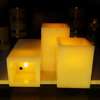 Wind Control Flameless Battery Operated LED Candle Real Wax Scented Bougie Velas Votive Candles Electric Home