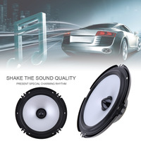 LaBo Front Door Audio Music Stereo Coxial Speakers System 2pcs 6.5 Inch 100W Car Coaxial Speaker
