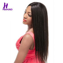 Malaysian Straight 2x4 Lace Front Human Hair Wigs 12-22 Pre Plucked Hairline Bleached Knots Remy HairUGo Wig