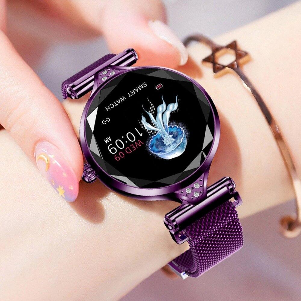 Montre intelligente élégante femmes fréquence cardiaque pression artérielle Fitness podomètre femme Cycle physiologique étanche Smartwatch Bracelet