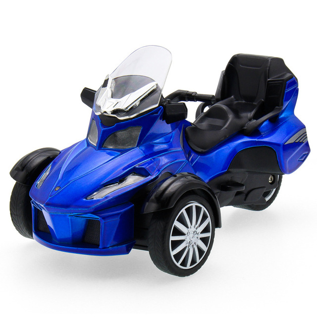 Free shopping 1:32 Motorcycle Vehicle Diecast Alloy Metal Luxury Car Model Collection Model Pull Back Toys Car Gift For Boy