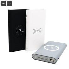 Banco do Poder QI sem FIO para Iphone Hoco Powerbank Carregador Portátil 10000 MAH 6S Samsung Galaxy S8 S6 S7 Borda Carga