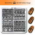 BORN PRETTY 1Pc Nail Stamping Plate 6*6cm Square Template Ethnic Design Lines Image Plate BP-X05