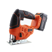 21V Jig Saw Power Tool Cordless Jigsaw Quick Blade Change Electric Saw LED Light Guide