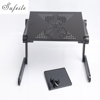 New folding laptop notebook table desk portable adjustable laptop stand desk with cooling holes mouse board.jpg 350x350