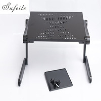 New Folding Laptop Notebook Table Desk Portable Adjustable Laptop Stand Desk With Cooling Holes Mouse Board