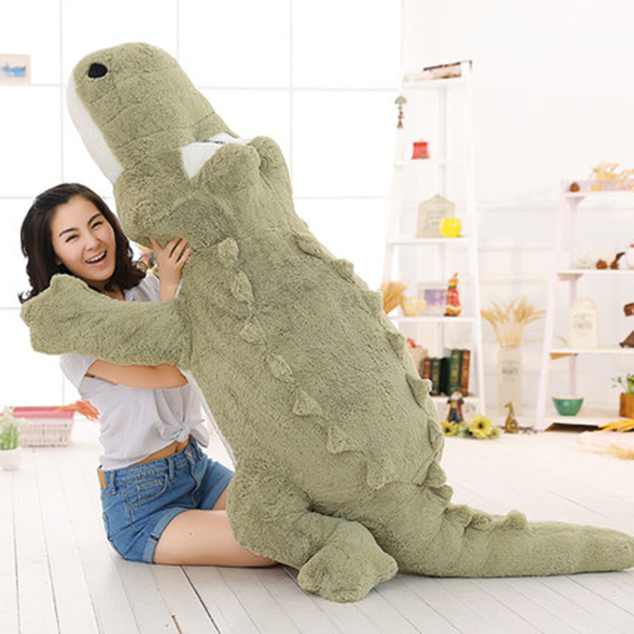 New Soft Stuffed Animals Simulation Green Crocodile Plush Stuffed Doll Toys Long Cushion Pillow For Girl Birthday Gifts 70C0026 hot sale cute dolls 60cm oblong animals pillow panda stuffed nanoparticle elephant plush toys rabbit cushion birthday gift