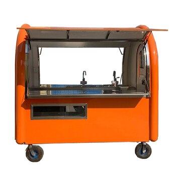 Colore arancione KN-220E mobile cibo carrelli/rimorchio/ice cream truck/snack cibo carrelli con il prezzo di fabbrica