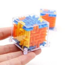 100 шагов мини 3D лабиринт стерео лабиринт квадратный вращающийся взрослый декомпрессионные магические кубики детские развивающие игрушки подарок